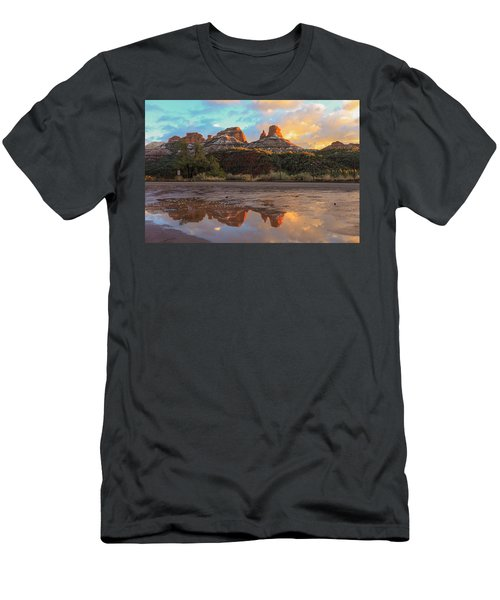 Sedona Reflections Men's T-Shirt (Slim Fit) by Robert Aycock