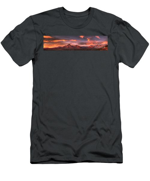 Sedona Sunset Panorama Men's T-Shirt (Athletic Fit)