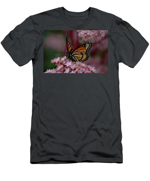 Men's T-Shirt (Athletic Fit) featuring the photograph Sedum Butterfly by Melissa Lane