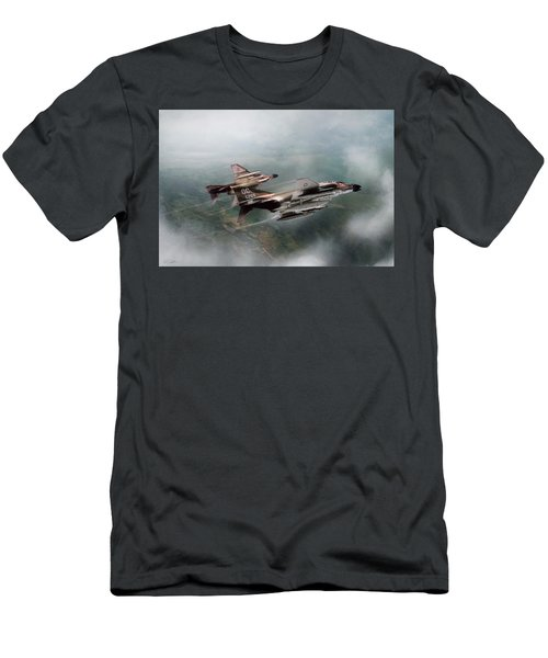 Men's T-Shirt (Slim Fit) featuring the digital art Seek And Attack by Peter Chilelli