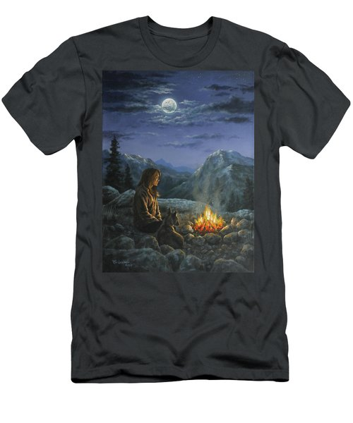 Men's T-Shirt (Slim Fit) featuring the painting Seeking Solace by Kim Lockman