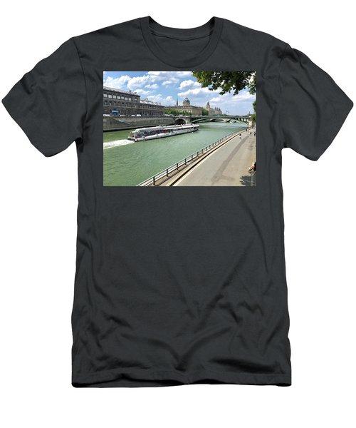 River Seine In Paris Men's T-Shirt (Athletic Fit)