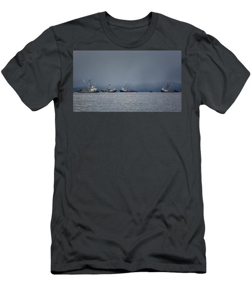 Men's T-Shirt (Slim Fit) featuring the photograph Seiners Off Mistaken Island by Randy Hall