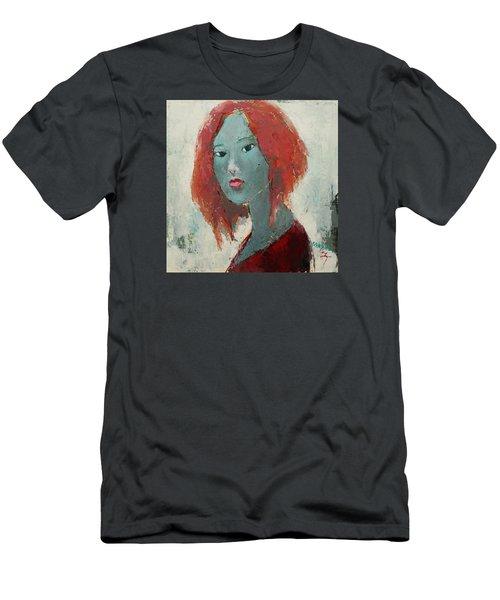Self Portrait 1502 Men's T-Shirt (Slim Fit) by Becky Kim