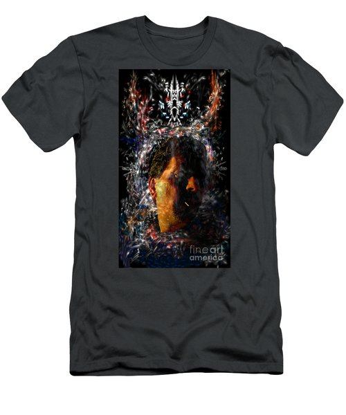 Men's T-Shirt (Athletic Fit) featuring the digital art Self Portrait With Aura by Reed Novotny
