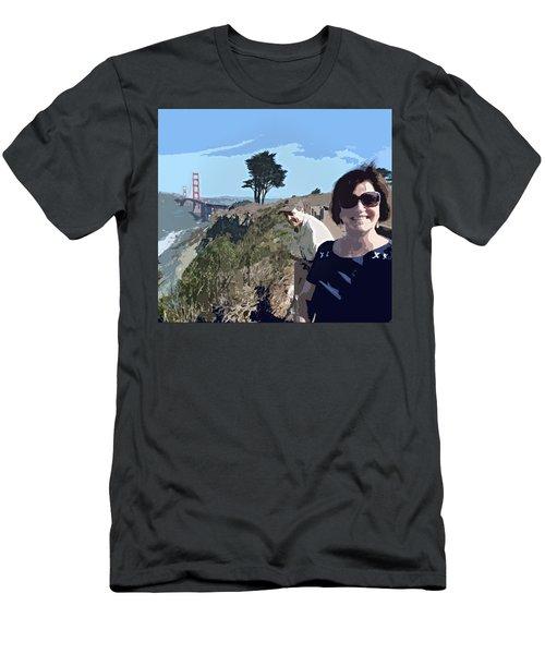 Selfie In San Francisco Men's T-Shirt (Athletic Fit)