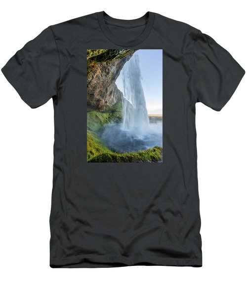 Men's T-Shirt (Athletic Fit) featuring the photograph Seljalandsfoss by James Billings