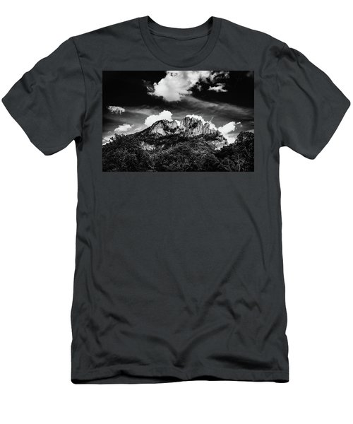Men's T-Shirt (Slim Fit) featuring the photograph Seneca Rocks II by Shane Holsclaw