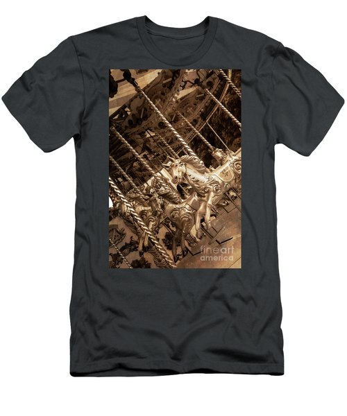 Sepia Carousel Horse Men's T-Shirt (Athletic Fit)