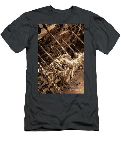 Sepia Carousel Horse Men's T-Shirt (Athletic Fit)
