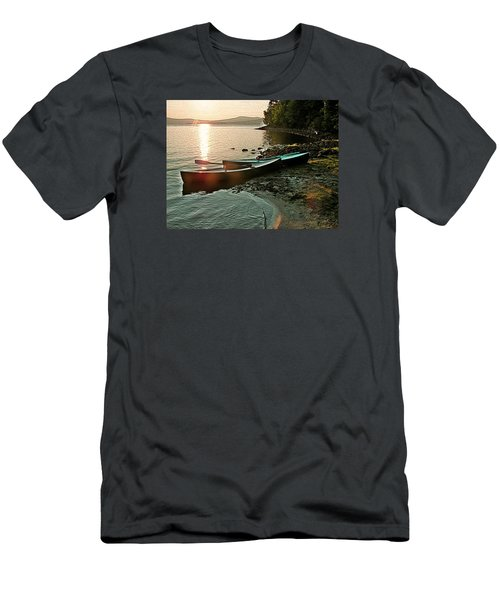 September Sunrise On Flagstaff Men's T-Shirt (Slim Fit) by Joy Nichols