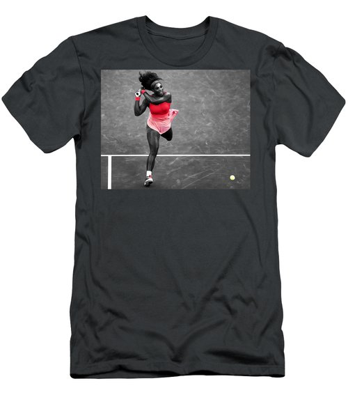 Serena Williams Strong Return Men's T-Shirt (Slim Fit) by Brian Reaves