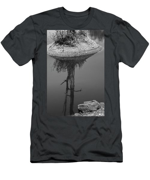 Men's T-Shirt (Athletic Fit) featuring the photograph Serene Reflection, Nagzira, 2011 by Hitendra SINKAR