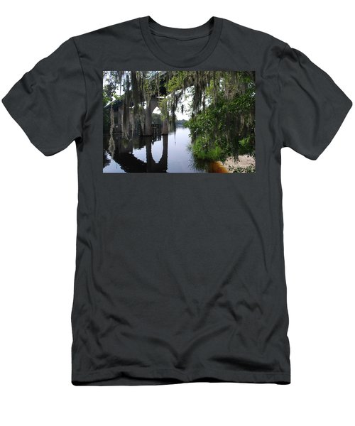 Serene River Men's T-Shirt (Slim Fit) by Gordon Mooneyhan