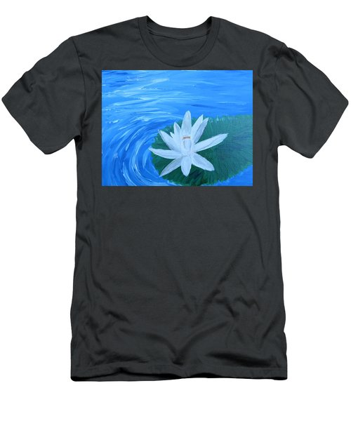 Serenity White Water Lily Men's T-Shirt (Athletic Fit)