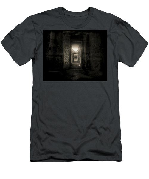 Men's T-Shirt (Slim Fit) featuring the photograph Seti I Temple Abydos by Nigel Fletcher-Jones