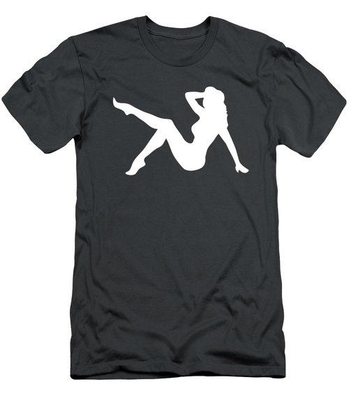 Sexy Trucker Girl White Tee Men's T-Shirt (Slim Fit) by Edward Fielding