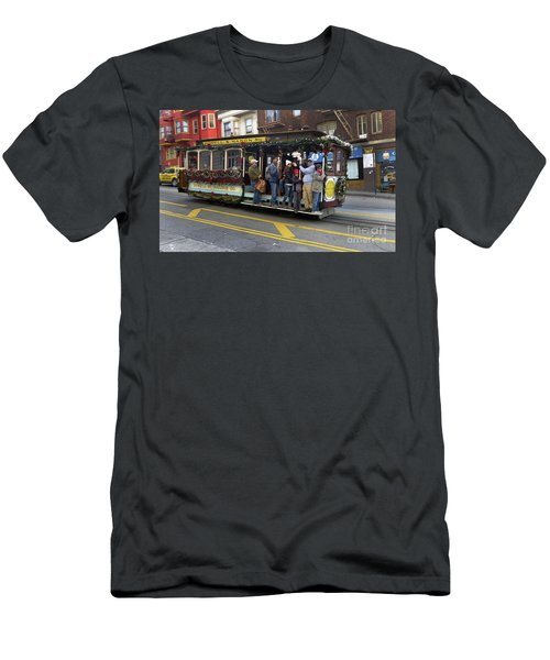 Sf Cable Car Powell And Mason Sts Men's T-Shirt (Slim Fit) by Steven Spak