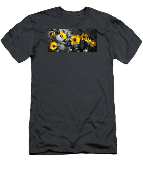 Shaded Daisies Men's T-Shirt (Athletic Fit)