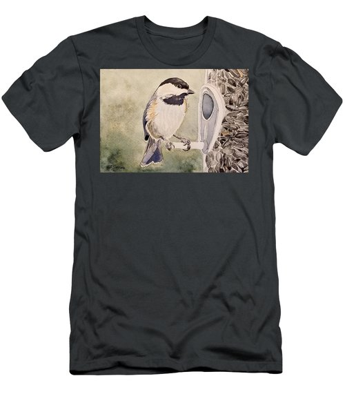 Shades Of Black Capped Chickadee Men's T-Shirt (Athletic Fit)