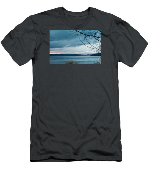 Shades Of Blue As Night Falls Men's T-Shirt (Slim Fit) by E Faithe Lester
