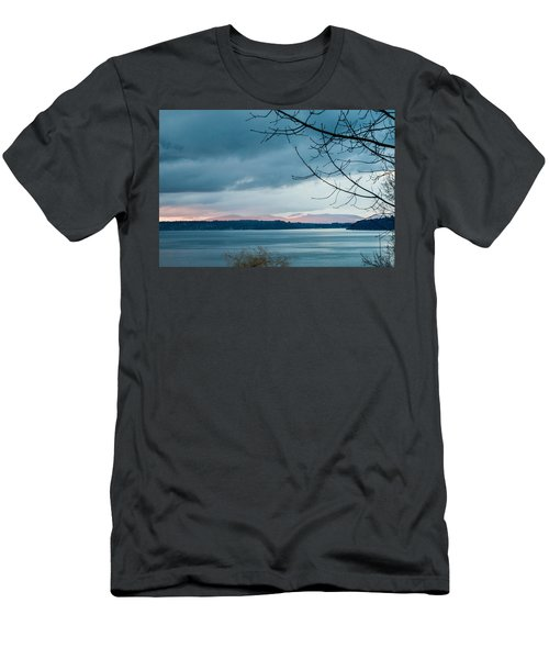 Shades Of Blue As Night Falls Men's T-Shirt (Athletic Fit)