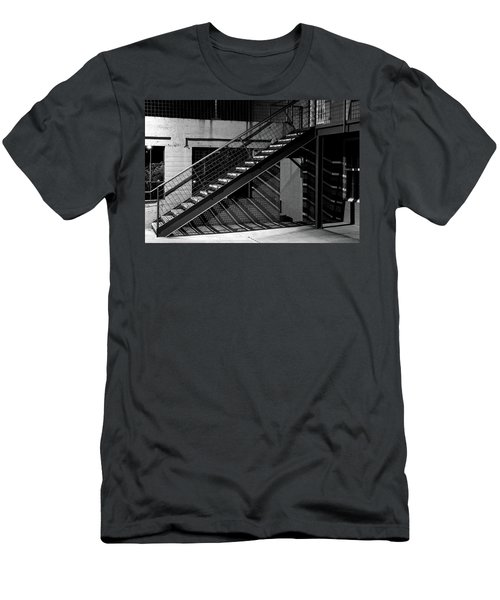 Shadow Of Stairs In Mono Men's T-Shirt (Slim Fit) by Christopher McKenzie
