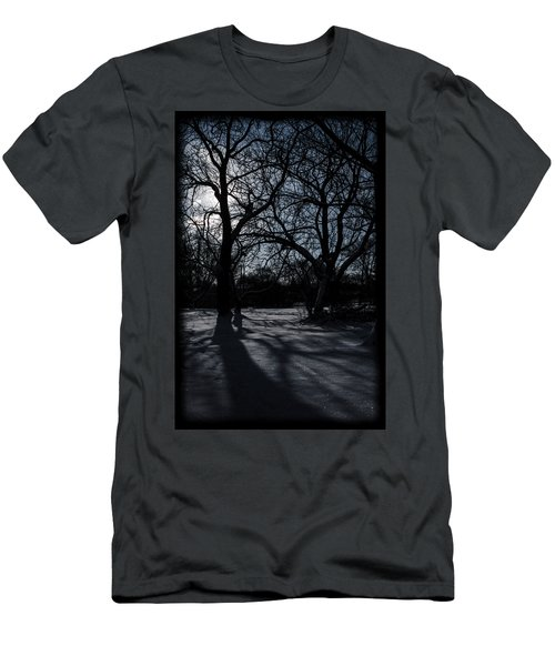 Shadows In January Snow Men's T-Shirt (Athletic Fit)