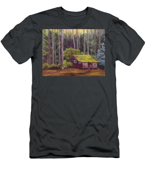 Men's T-Shirt (Slim Fit) featuring the painting Shady Grove by Nancy Jolley