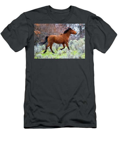 Men's T-Shirt (Slim Fit) featuring the photograph Shaggy And Proud by Mike Dawson