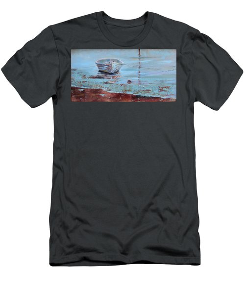 Shallow Tether Men's T-Shirt (Slim Fit) by Trina Teele