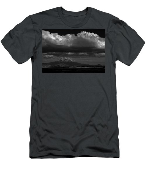 Men's T-Shirt (Slim Fit) featuring the photograph Shasta On July 17 by John Norman Stewart