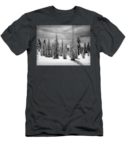 Shasta Snowtrees Men's T-Shirt (Slim Fit) by Martin Konopacki