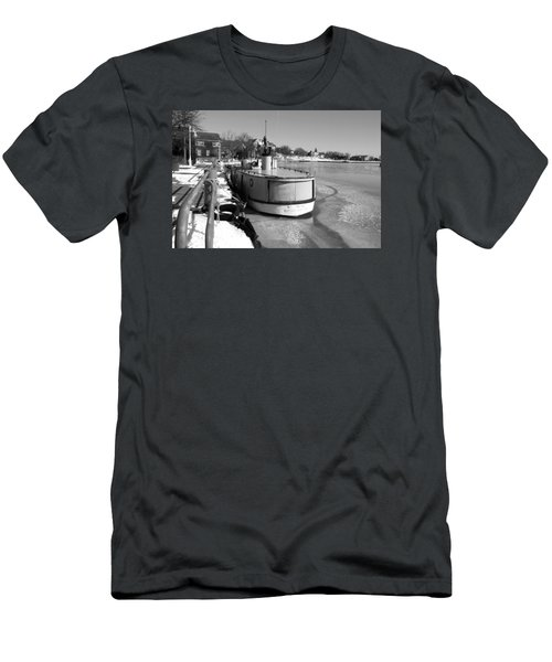 Men's T-Shirt (Slim Fit) featuring the photograph Sheboygan Riverwalk No.1,sheboygan Riverwalk No.5379ssheboygan Riverwalk No.1,sheboygan Riverwalk No by Janice Adomeit