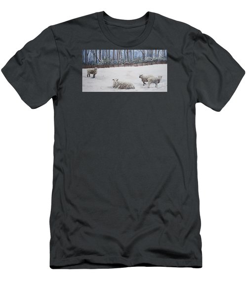 Sheep In Field Men's T-Shirt (Athletic Fit)
