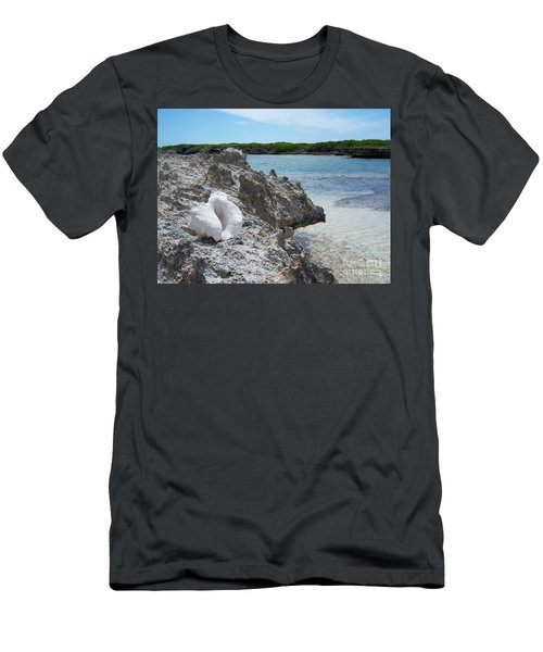 Shell On Dominican Shore Men's T-Shirt (Athletic Fit)