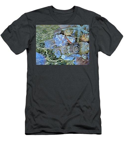 Shells Underwater 20 Men's T-Shirt (Slim Fit) by Lynda Lehmann