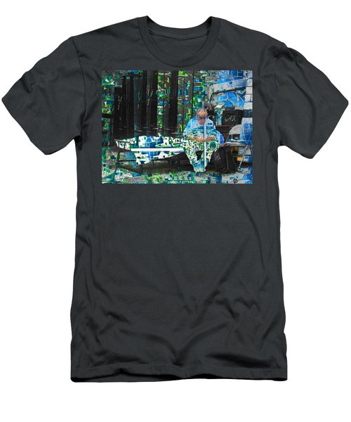 Men's T-Shirt (Slim Fit) featuring the mixed media Shelter by Tony Rubino