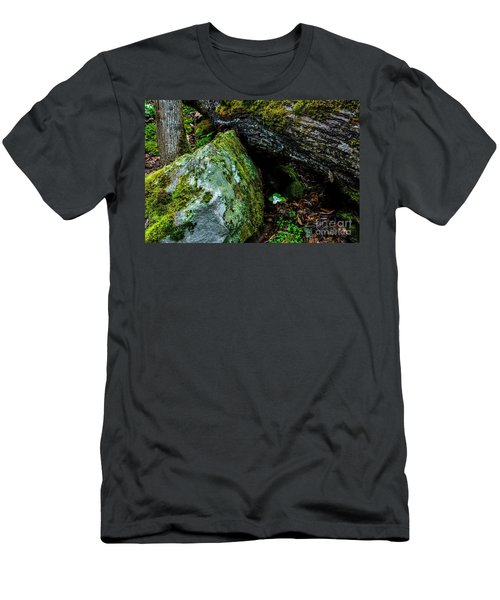 Sheltered By The Rock Men's T-Shirt (Athletic Fit)