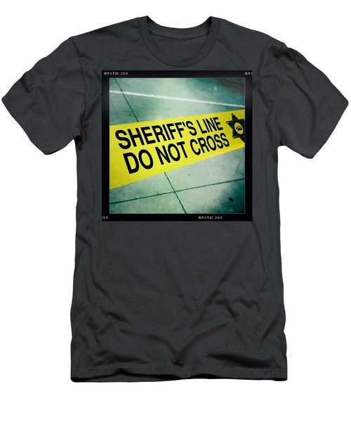 Sheriff's Line - Do Not Cross Men's T-Shirt (Athletic Fit)
