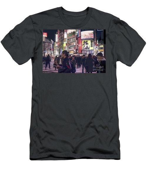 Shibuya Crossing, Tokyo Japan Poster 3 Men's T-Shirt (Athletic Fit)