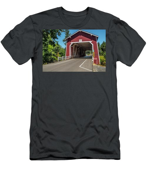 Shimanek Covered Bridge Men's T-Shirt (Athletic Fit)