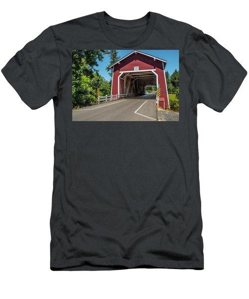 Shimanek Covered Bridge Men's T-Shirt (Athletic Fit)