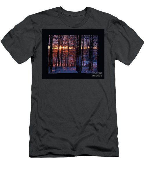 Shimmery Sunrise Men's T-Shirt (Slim Fit) by Patricia Overmoyer