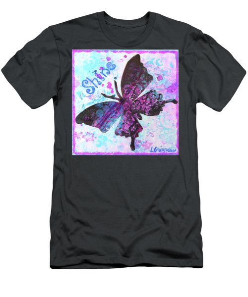 Shine Butterfly Men's T-Shirt (Athletic Fit)