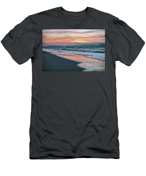 Men's T-Shirt (Slim Fit) featuring the photograph Shine On Me Beach Sunrise  by John McGraw