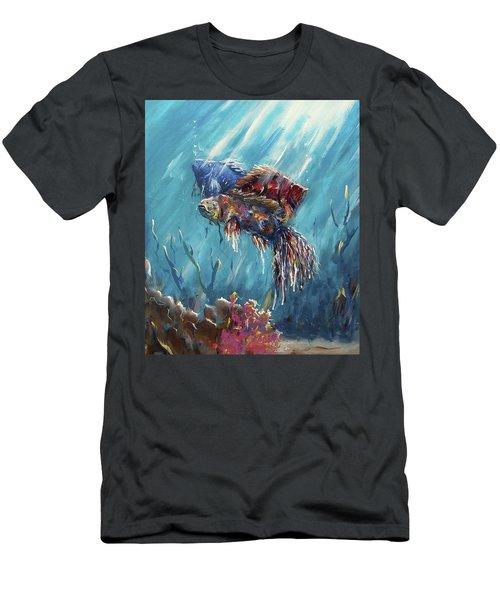 Shine Trough The Ocean Men's T-Shirt (Athletic Fit)