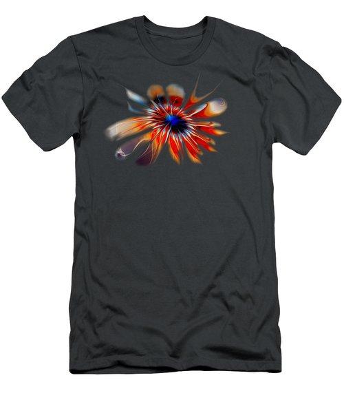 Shining Red Flower Men's T-Shirt (Slim Fit) by Anastasiya Malakhova