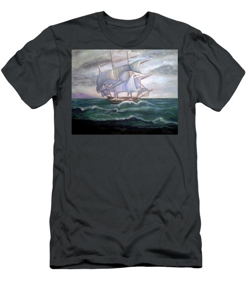 Ship Out To Sea Men's T-Shirt (Slim Fit) by Manuel Sanchez