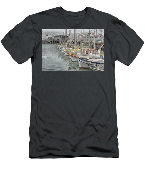 Ships In The Harbor Men's T-Shirt (Athletic Fit)